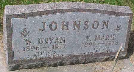 JOHNSON, F. MARIE - Dixon County, Nebraska | F. MARIE JOHNSON - Nebraska Gravestone Photos