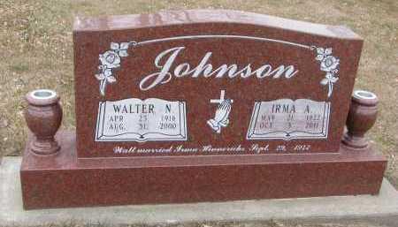 JOHNSON, IRMA A. - Dixon County, Nebraska | IRMA A. JOHNSON - Nebraska Gravestone Photos