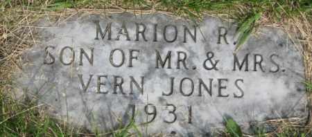 JONES, MARION R. - Dixon County, Nebraska | MARION R. JONES - Nebraska Gravestone Photos