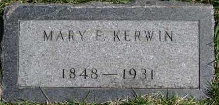 KERWIN, MARY F. - Dixon County, Nebraska | MARY F. KERWIN - Nebraska Gravestone Photos