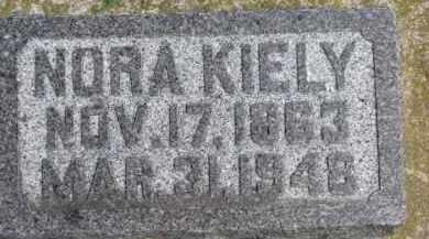 KIELY, NORA - Dixon County, Nebraska | NORA KIELY - Nebraska Gravestone Photos