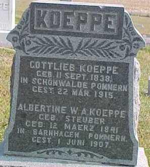 STEUBER KOEPPE, ALBERTINE W. A. - Dixon County, Nebraska | ALBERTINE W. A. STEUBER KOEPPE - Nebraska Gravestone Photos