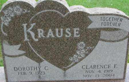 KRAUSE, CLARENCE E. - Dixon County, Nebraska | CLARENCE E. KRAUSE - Nebraska Gravestone Photos