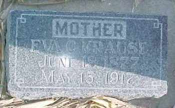 KRAUSE, EVA C. - Dixon County, Nebraska | EVA C. KRAUSE - Nebraska Gravestone Photos