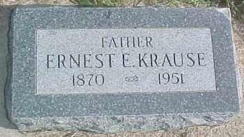 KRAUSE, ERNEST E. - Dixon County, Nebraska   ERNEST E. KRAUSE - Nebraska Gravestone Photos