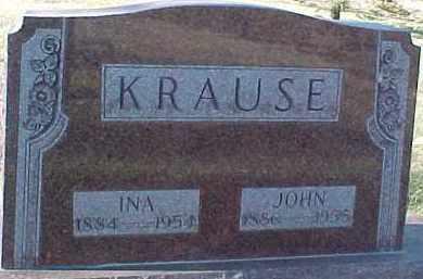 KRAUSE, INA - Dixon County, Nebraska | INA KRAUSE - Nebraska Gravestone Photos
