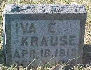 KRAUSE, IVA E. - Dixon County, Nebraska | IVA E. KRAUSE - Nebraska Gravestone Photos
