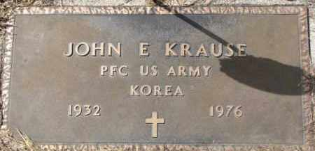 KRAUSE, JOHN E. (MILITARY MARKER) - Dixon County, Nebraska | JOHN E. (MILITARY MARKER) KRAUSE - Nebraska Gravestone Photos