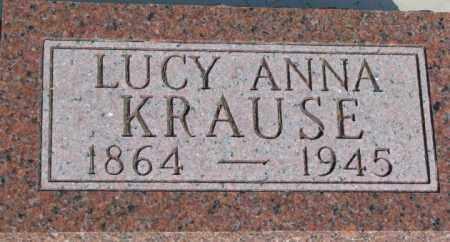 KRAUSE, LUCY ANNA - Dixon County, Nebraska   LUCY ANNA KRAUSE - Nebraska Gravestone Photos
