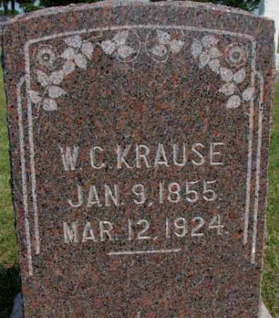 KRAUSE, W.C. - Dixon County, Nebraska | W.C. KRAUSE - Nebraska Gravestone Photos