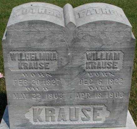 KRAUSE, WILHELMINA - Dixon County, Nebraska | WILHELMINA KRAUSE - Nebraska Gravestone Photos