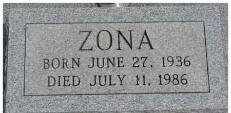 KRAUSE, ZONA - Dixon County, Nebraska | ZONA KRAUSE - Nebraska Gravestone Photos