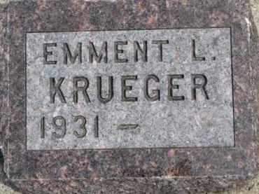KRUEGER, EMMENT L. - Dixon County, Nebraska   EMMENT L. KRUEGER - Nebraska Gravestone Photos