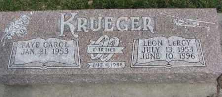 KRUEGER, LEON LEROY - Dixon County, Nebraska | LEON LEROY KRUEGER - Nebraska Gravestone Photos