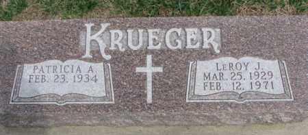 KRUEGER, PATRICIA A. - Dixon County, Nebraska   PATRICIA A. KRUEGER - Nebraska Gravestone Photos