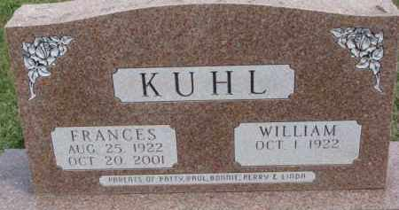 KUHL, FRANCES - Dixon County, Nebraska | FRANCES KUHL - Nebraska Gravestone Photos