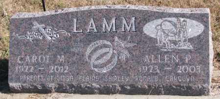 LAMM, ALLEN P. - Dixon County, Nebraska | ALLEN P. LAMM - Nebraska Gravestone Photos
