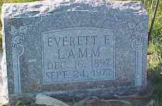 LAMM, EVERETT EDWIN - Dixon County, Nebraska | EVERETT EDWIN LAMM - Nebraska Gravestone Photos