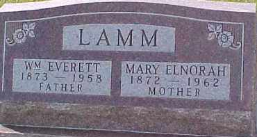 LAMM, MARY ELNORAH - Dixon County, Nebraska | MARY ELNORAH LAMM - Nebraska Gravestone Photos