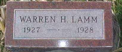 LAMM, WARREN H. - Dixon County, Nebraska   WARREN H. LAMM - Nebraska Gravestone Photos