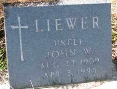 LIEWER, JOHN W. - Dixon County, Nebraska | JOHN W. LIEWER - Nebraska Gravestone Photos