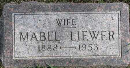 LIEWER, MABEL - Dixon County, Nebraska | MABEL LIEWER - Nebraska Gravestone Photos