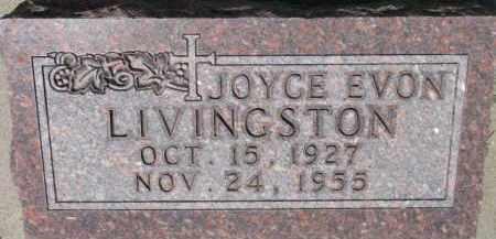 LIVINGSTON, JOYCE EVON - Dixon County, Nebraska | JOYCE EVON LIVINGSTON - Nebraska Gravestone Photos
