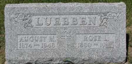 LUEBBEN, AUGUST M. - Dixon County, Nebraska | AUGUST M. LUEBBEN - Nebraska Gravestone Photos