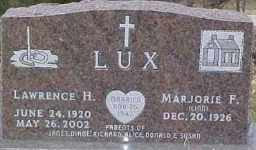 LUX, LAWRENCE H. - Dixon County, Nebraska | LAWRENCE H. LUX - Nebraska Gravestone Photos