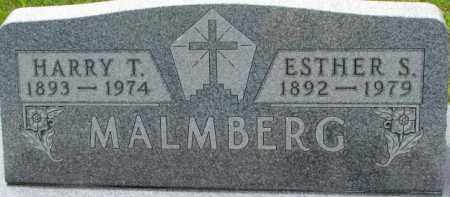 MALMBERG, ESTHER S. - Dixon County, Nebraska | ESTHER S. MALMBERG - Nebraska Gravestone Photos