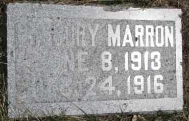 MARRON, GREGORY - Dixon County, Nebraska | GREGORY MARRON - Nebraska Gravestone Photos