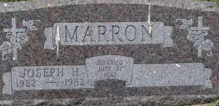 MARRON, JOSEPH H. - Dixon County, Nebraska | JOSEPH H. MARRON - Nebraska Gravestone Photos