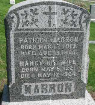 MARRON, PATRICK - Dixon County, Nebraska   PATRICK MARRON - Nebraska Gravestone Photos