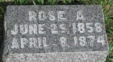 MARRON, ROSE A. - Dixon County, Nebraska   ROSE A. MARRON - Nebraska Gravestone Photos