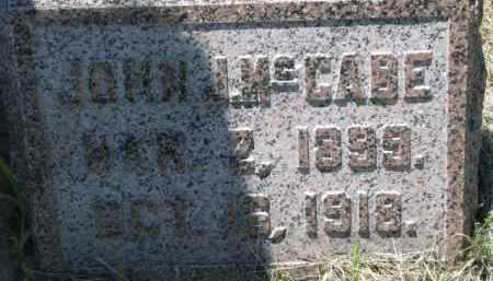 MCCABE, JOHN J. - Dixon County, Nebraska | JOHN J. MCCABE - Nebraska Gravestone Photos