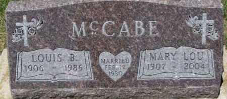 MCCABE, MARY LOU - Dixon County, Nebraska | MARY LOU MCCABE - Nebraska Gravestone Photos