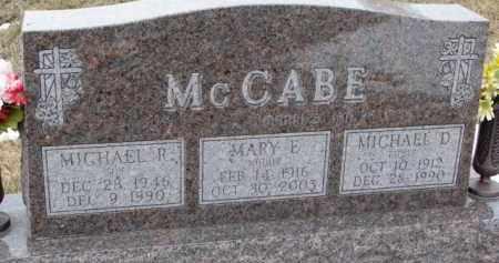 MCCABE, MICHAEL D. - Dixon County, Nebraska   MICHAEL D. MCCABE - Nebraska Gravestone Photos