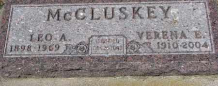MCCLUSKEY, LEO A. - Dixon County, Nebraska | LEO A. MCCLUSKEY - Nebraska Gravestone Photos