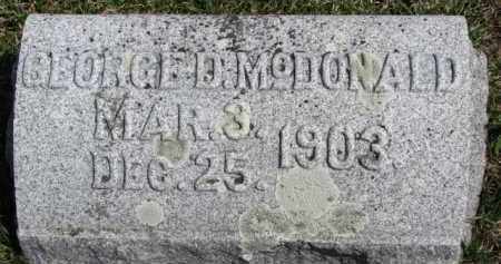 MCDONALD, GEORGE D. - Dixon County, Nebraska | GEORGE D. MCDONALD - Nebraska Gravestone Photos