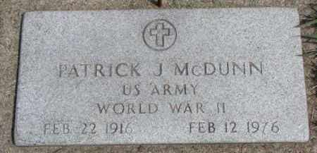 MCDUNN, PATRICK J. - Dixon County, Nebraska | PATRICK J. MCDUNN - Nebraska Gravestone Photos