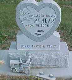 MCNEAR, LANDEN TRAVIS - Dixon County, Nebraska | LANDEN TRAVIS MCNEAR - Nebraska Gravestone Photos