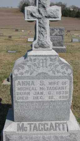 MCTAGGART, ANNA S. - Dixon County, Nebraska | ANNA S. MCTAGGART - Nebraska Gravestone Photos