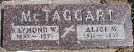 MCTAGGART, RAYMOND W. - Dixon County, Nebraska | RAYMOND W. MCTAGGART - Nebraska Gravestone Photos