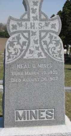 MINES, NEAL D. - Dixon County, Nebraska | NEAL D. MINES - Nebraska Gravestone Photos