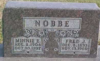 NOBBE, FRED J. - Dixon County, Nebraska | FRED J. NOBBE - Nebraska Gravestone Photos