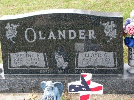 OLANDER, DARLINE K. - Dixon County, Nebraska | DARLINE K. OLANDER - Nebraska Gravestone Photos