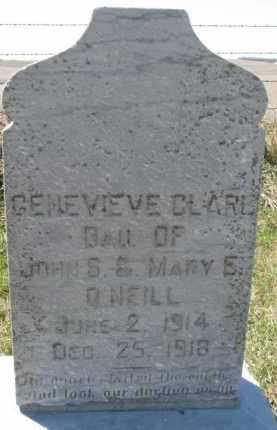 O'NEILL, GENEVIEVE CLARE - Dixon County, Nebraska | GENEVIEVE CLARE O'NEILL - Nebraska Gravestone Photos