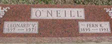 O'NEILL, LEONARD V. - Dixon County, Nebraska | LEONARD V. O'NEILL - Nebraska Gravestone Photos