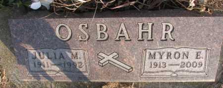 OSBAHR, MYRON E. SR. - Dixon County, Nebraska | MYRON E. SR. OSBAHR - Nebraska Gravestone Photos