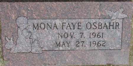 OSBAHR, MONA FAYE - Dixon County, Nebraska   MONA FAYE OSBAHR - Nebraska Gravestone Photos